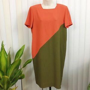 Vintage 90s Liz Claiborne Sheath Dress Size 8